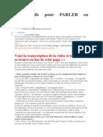 5 Conseils Pour PARLER en Français