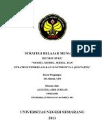 Review Buku Model Media Dan Strategi Pembelajaran Kontekstual
