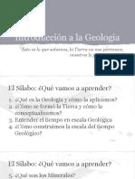 Introducción a La Geología