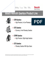 Bosch Rexroth Gearbox Product Line