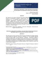 Planejamento Estrategico Regional_uma Analise Da Evolução Dos Metodos de Planejamento Estrategico Aplicado as Regioes