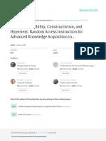 Spiro Cognitive Flexibility, Constructivism, And Hypertext