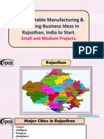 Best Profitable Manufacturing & Processing Business Ideas in Rajasthan, India to Start. Small and Medium Projects.