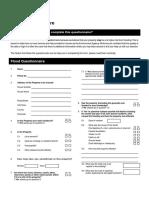 Kh2619!01!16 Flood Questionnaire