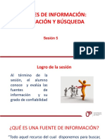 Sesion 5 Fuentes de Información. Búsqueda y Evaluación