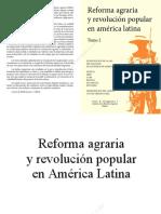 Reforma Agraria y Revolucion en America Latina