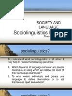 Sociolinguistics INTRODUCTION