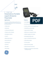 Transport Pt878 Portable Liquid Ultrasonic Flowmeter Brochure English