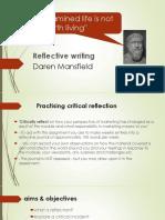Practising reflective Writing