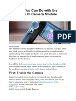 5 Things You Can Do With the Raspberry Pi Camera Module