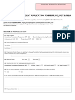 International Application Form University of Chester