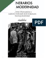 Casullo - Itinerarios de La Modernidad