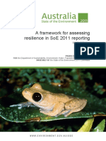 Supplementary Framework Assessing Resilience Soe 2011 Reporting