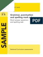 Ks2 English 2013 Specimen Grammar Punctuation Spelling Marking Scheme