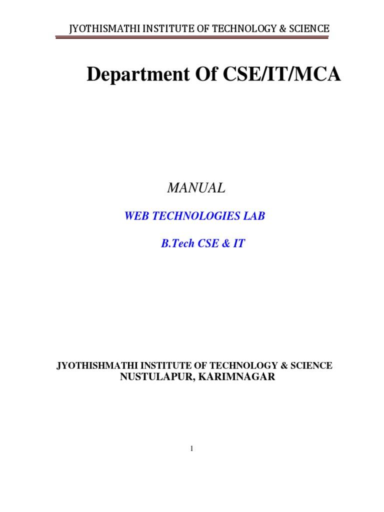 web tech pdf | Html | Web Page