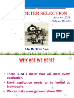 Flowmeter Selection - Be Tran Van