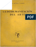 Hose Ortega i Gaset - Dehumanizacija Umetnosti
