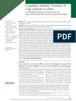 Treatmenr of RLS Syndrom