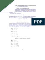 Eserecizi Sulle Equazioni Differenziali