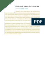 Cara Mudah Download File Di Scribd Gratis
