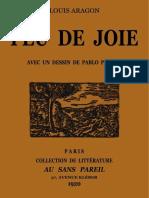 Louis Aragon Feu de Joie