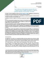 Resolución del Tribunal Europeo de Derechos Humanos sobre dos devoluciones en caliente de España