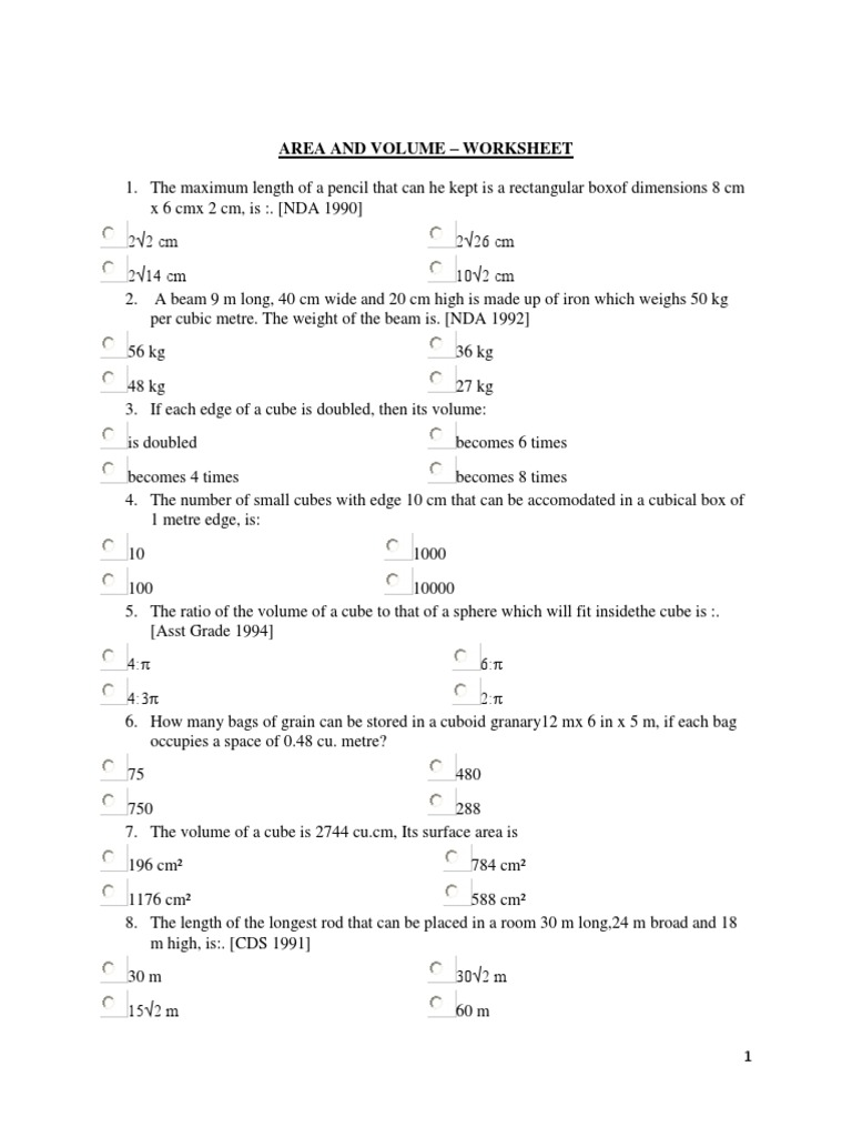 Measurement Calculate  estimate and  pare volume of cubes and c further Area and Volume Worksheet   Volume   Euclidean Geometry likewise Mind Your Decisions together with Volume Worksheets   Free    monCoreSheets also Math   Khan Academy as well Chemistry Recent Questions   Chegg furthermore 5th grade Math Worksheets  Cubes of small numbers   Greats as well Volume Of Irregular Rectangular Prism Worksheet The best worksheets as well Volume and capacity mathematics worksheets for primary students in additionally Summary  > Volume With Cubes With Fraction Lengths Practice Khan additionally Volume Of Cube And Rectangular Prism Worksheet Related Post Volume additionally Geometry   Wikipedia together with mon Core Volume Worksheets The best worksheets image collection in addition Mind Your Decisions furthermore Volume of  posite figures worksheets  2164559   Worksheets liry likewise . on volume of a cube worksheet