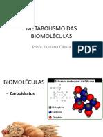 Metabolismo Das Biomoléculas 03-05-2017