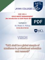 CHE191-1 Lecture 2