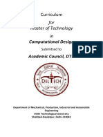 M.tech. Computational Design Syllabus-DTU