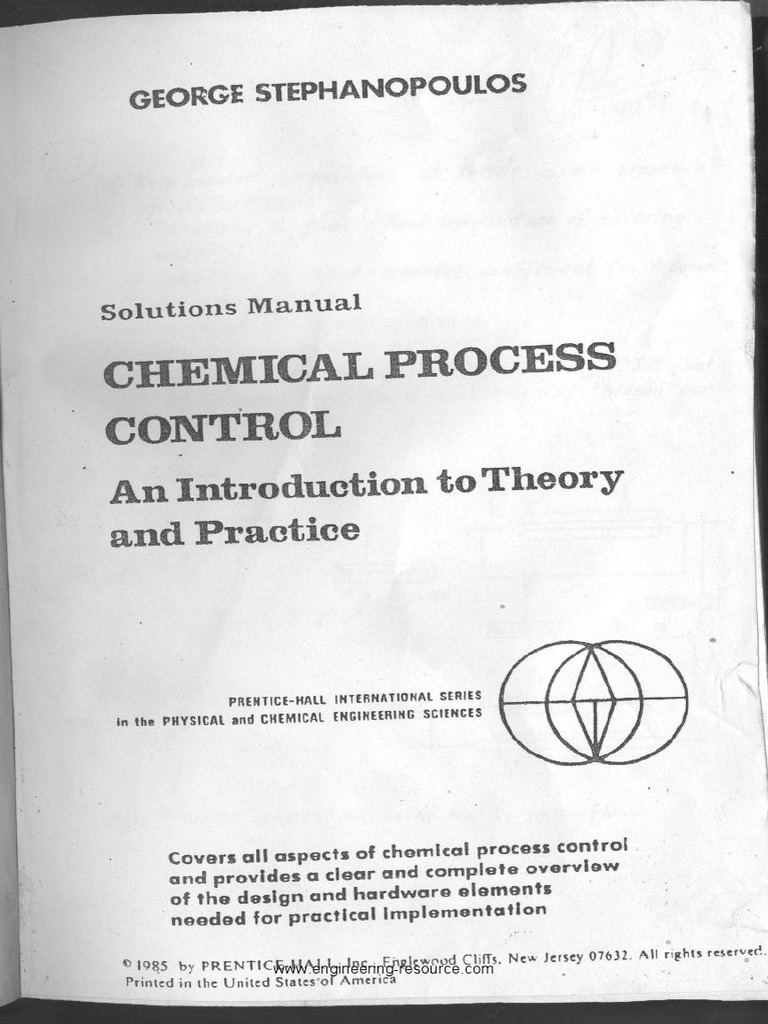 stephanopoulos chemical process control solution manual pdf