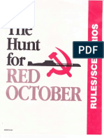 The Hunt for Red October rule book TSR