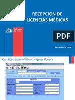 Recepcion de Licencias Medicas