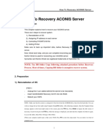 How To Recovery ACONIS Server