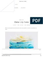 Water Lily Cake - i Am Baker