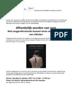 Minisymposium Afhankelijk Worden Van Zorg - Archie de Ceuninck - 31-10-2017