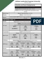 Nov. 10-12 ALPs University schedule