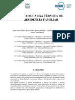 Carga Térmica Residencia Familiar III