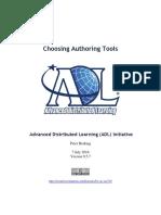 Choosing Authoring Tools