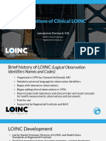 2017 09 27 - Foundations of Clinical LOINC