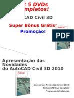Kit Autocad Civil 3D |5 DVDs Completos! Frete Grátis!!!