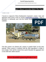 Thing You Must Learn About Concrete Batch Mix Plant