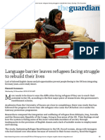 Language Barrier Leaves Refugees Facing Struggle to Rebuild Their Lives _ Society _ the Guardian