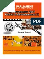 Mainstorming 2017 Polity Governance II