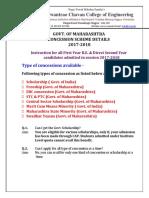 Govt Concession Scheme Details 2017-18