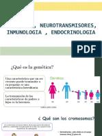GENÉTICA  NEUROTRANSMISORES INMUNOLOGIA ENDOCRINOLOGIA