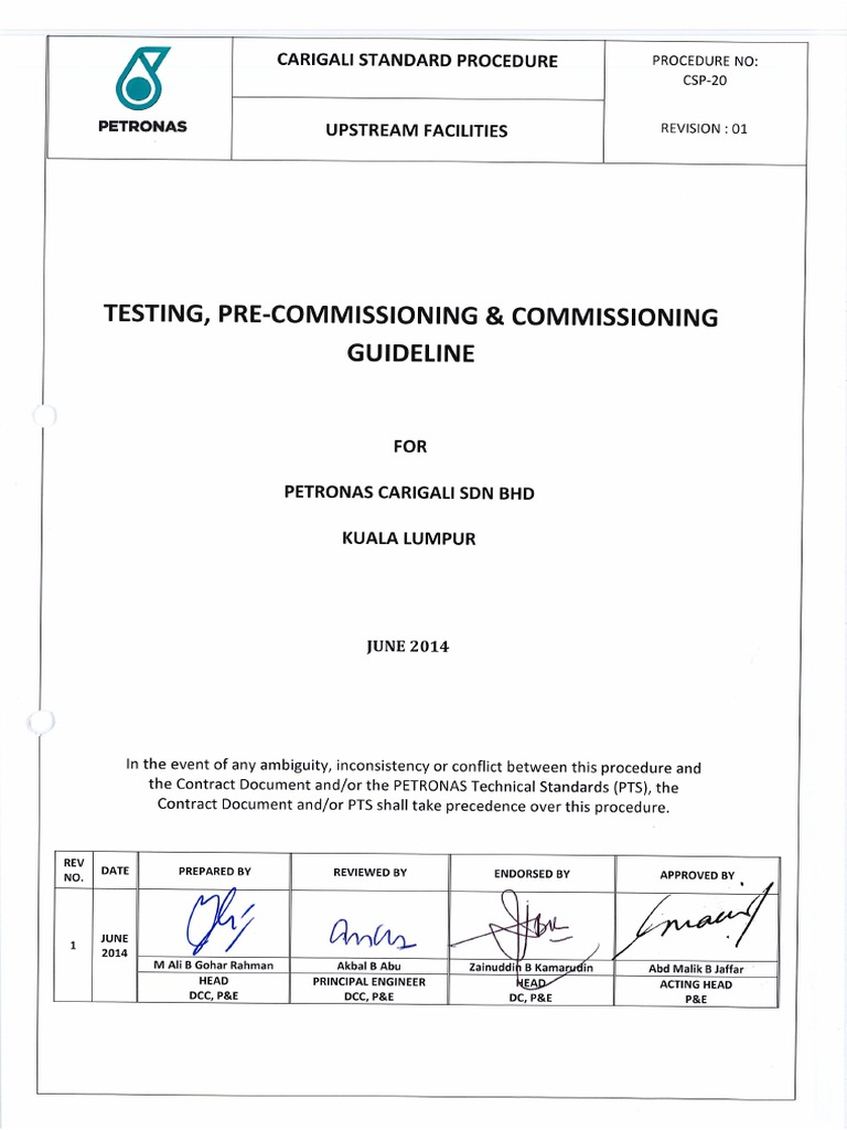 Csp20 Testing Precommissioning And Commissioning Guideline Full Compilation Gas Compressor Internal Combustion Engine