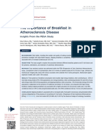 The Importance of Breakfast in Atherosclerosis Disease