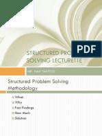 Structured Problem Solving Lecturette