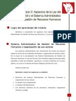 Modulo 2 Servicio Civil y El Sistema Administrativo de Gestion de Recursos Humanos